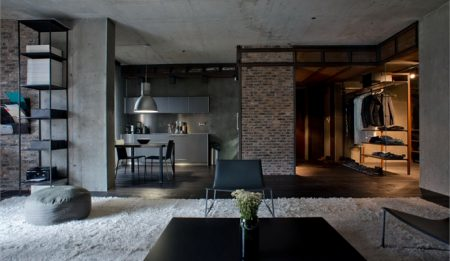 14kiev-masculine-loft-black-floor-living-room1